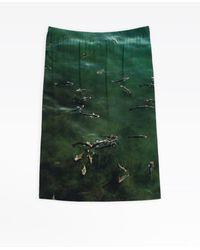 "agnès b. Nicolas Floc'h ""poissons"" Photo Skirt - Green"
