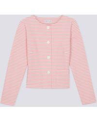 agnès b. - Pink Horizontal Stripes Illy Jacket - Lyst