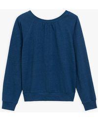 agnès b. Blue Linen Compte Sweatshirt