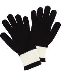 agnès b. - Black Stripes Gloves - Lyst