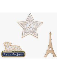 agnès b. Set Of 3 Paris Pins - White