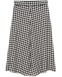 agnès b. - Black Wool Veil Abrielle Skirt - Lyst