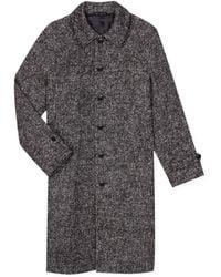 agnès b. - Black Tweed Raglan Coat - Lyst
