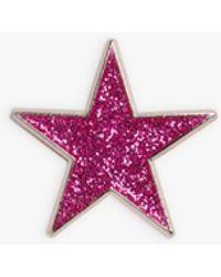 agnès b. Bordeaux Glittery Estrella Pin - Red