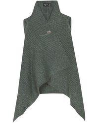 agnès b. - Green Sleeveless Mohair Cardigan - Lyst