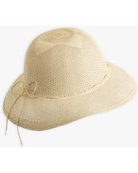 agnès b. Beige Lucia Straw Hat - Natural