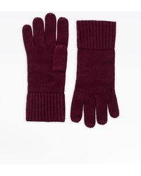 agnès b. Bordeaux Cashmere Alexi Gloves - Red