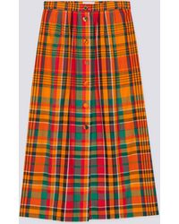agnès b. - Madras Long Skirt - Lyst