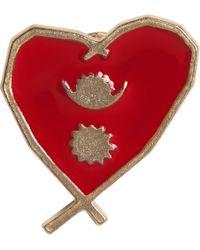 agnès b. - Gold Heart Pin Népal - Lyst