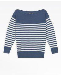 agnès b. - Blue Sailor Striped Jumper - Lyst