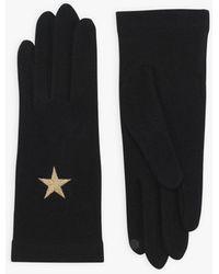agnès b. Black Mini Star Touch Screen Gloves