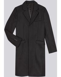 agnès b. - Black Bruggen Wool Coat - Lyst