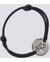 agnès b. - Black Cotton Lizard Bracelet - Lyst