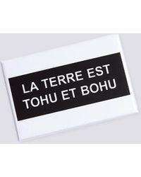 "agnès b. - Roberto Martinez Badge ""tohu Et Bohu"" - Lyst"