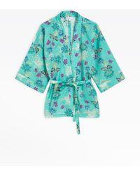 agnès b. - Turquoise Kimono Shirt - Lyst