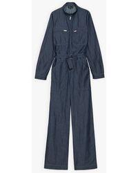 agnès b. Blue Lightweight Denim Jumpsuit