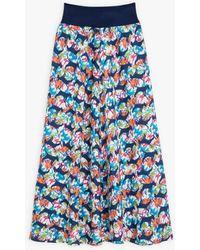 agnès b. Long Skirt With Aurèle Design - Blue