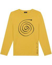 "agnès b. - Yellow ""épanouis Toi"" Coulos T-shirt - Lyst"
