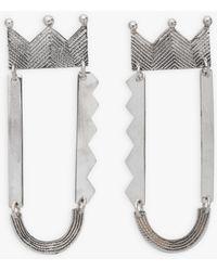 agnès b. Agnès B. And Ombre Claire Inaya Silver Earrings - Metallic