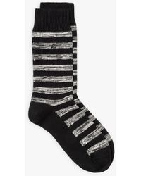 agnès b. Black Striped Eliot Socks