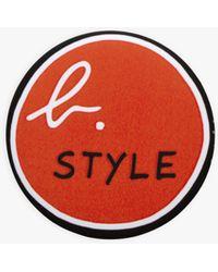"agnès b. Red ""b. Style"" Badge"