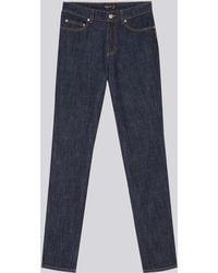 agnès b. - Straight-fit Raw Denim Hayley Jeans - Lyst