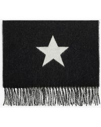 agnès b. Black And Off White Star And Stripe Scarf