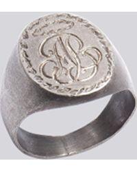 agnès b. - Engraved Silver Ab. Ring - Lyst