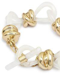Aje. Distortion Chunky Bracelet - Metallic