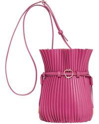 Aje. Conceptional Pleat Bag - Purple