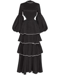Aje. Gracious Cut Out Dress - Black
