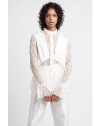 Aje. Veil Lace Shirt - White