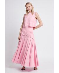 Aje. Serendipity Midi Skirt - Pink