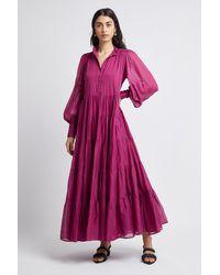 Aje. Run Free Maxi Dress - Purple