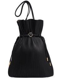 Aje. Conceptional Pleat Bucket Bag - Black