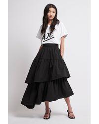 Aje. Interlace Midi Skirt - Black