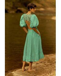 Aje. Relic Beaded Midi Dress - Green