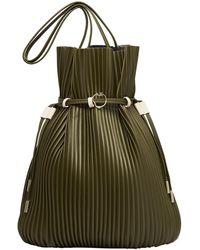 Aje. Conceptional Pleat Bucket Bag - Green