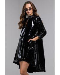 AKIRA - Into The Matrix Liquid Leather Raincoat - Lyst