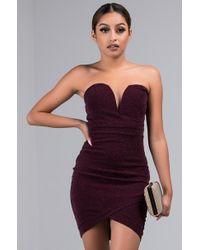 AKIRA - Quarter Past Midnight Strapless Tulip Mini Dress - Lyst