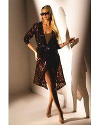 AKIRA Kitty Kat Cheetah Pvc Raincoat - Brown