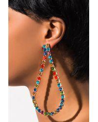 AKIRA Come With Me Oversized Earring - Orange