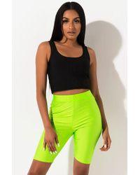 AKIRA Anywhere You Want Biker Shorts - Green