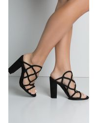 Unk - Dont You Dare Chy Heel Sexy Sandals - Lyst