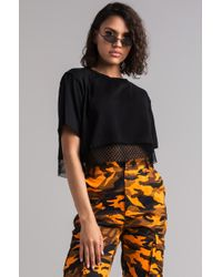 AKIRA - Only Know Me Inside Out Mesh Crop Top - Lyst