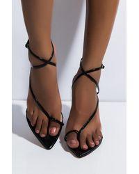 AKIRA Sudden Change Wedge Sandal - Black