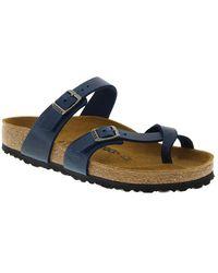 Birkenstock Mayari Leather Sandal - Blue