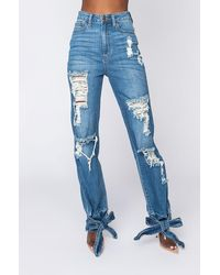 AKIRA Always Doing What I Want High Rise Jeans - Blue