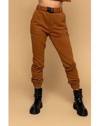 AKIRA Easy To Say Sweatpants - Brown