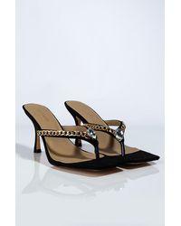 AKIRA Do Me Like That Stiletto Sandal - Black